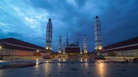 Timelapse of Central Java Great Mosque stock video footage