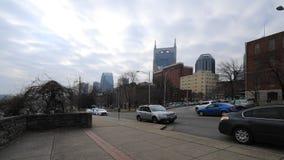 Timelapse centro de ciudad de Nashville, Tennessee por el río 4K