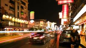 Timelapse chinatown Thailand arkivfilmer