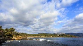 Timelapse Chmurnieje i Macha w Cote d ` Azur Francja zbiory wideo