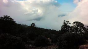 Timelapse chmury Rusza się Nad Troodos górami Cypr zbiory