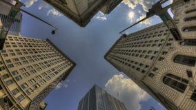 Timelapse chmury w mieście zdjęcie wideo