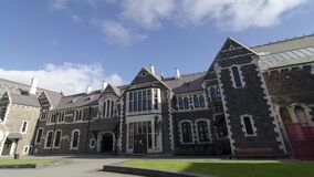 Timelapse Christchurch Arts Centre. Landmark in Christchurch, New Zealand