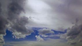 Timelapse - cielo nublado gradualmente metrajes