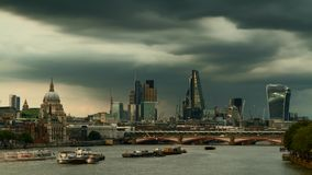 Timelapse of the city of London stock video footage