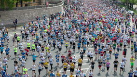 Timelapse of City Marathon mass start stock footage