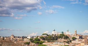 Timelapse of the city of Rome, in Italy. stock video footage