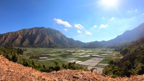 Timelapse Cloud and hill in Sembalun Lombok stock footage