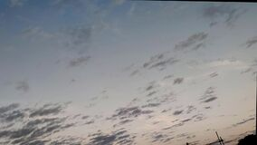 Time lapse of clouds at dusk of Latin American skies