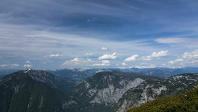 Timelapse of clouds in the mountains stock footage