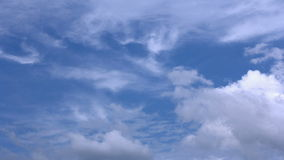 Timelapse with clouds stock footage