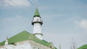 Timelapse of clouds moving over the Mardjany mosque in Kazan, Tatarstan stock video footage