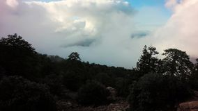 Timelapse Of Clouds Moving Over Troodos mountains. Cyprus stock footage