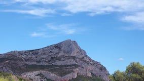 Timelapse, clouds over mount Sainte Victoire, Aix en Provence. France stock video footage