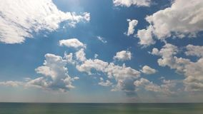 Timelapse of the clouds in the sky near the sea