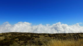 Timelapse of clouds in Teide National Park in Tenerife stock footage
