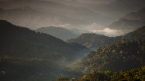 Timelapse of clouds and their movements in the mountains. Andreev. stock video footage
