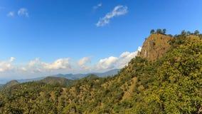 Timelapse, cloudscape w tropikalnym lesie deszczowym, Tajlandia zbiory