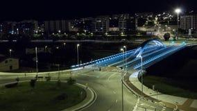 Timelapse - coches que se mueven en la noche almacen de video