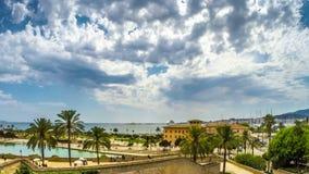 Timelapse con la vista de la playa de Plama de Mallorca metrajes
