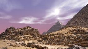 Timelapse con las nubes sobre las grandes pirámides en Giza El Cairo en Egipto metrajes