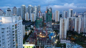Timelapse of construction works in Kuala Lumpur, Malaysia stock video footage