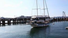 timelapse controlado do movimento de 4K UltraHD A do porto de San Diego filme