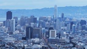 Timelapse crepuscular de San Francisco 4K video estoque