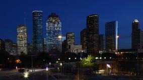 Timelapse crepuscular horizonte 4K de la Houston, Tejas metrajes