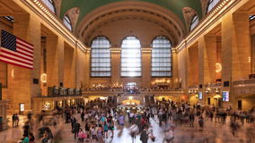 Timelapse crowd in Grand central Station in Manhattan New York USA stock footage