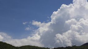 Timelapse of cumulo nimbus clouds in Pyrenees, France stock footage