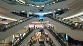 Timelapse of customers traffic in shopping mall stock video