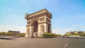Timelapse d'Arc de Triomphe 4K banque de vidéos
