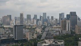 Timelapse d'horizon de Chengdu un jour nuageux banque de vidéos