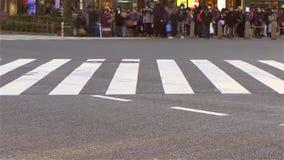 Timelapse d'une intersection de rue passante à Tokyo banque de vidéos
