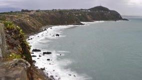 Timelapse d'une plage méditerranéenne dans Milazzo, Sicile, Italie banque de vidéos
