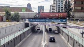 Timelapse d'une rue de Calgary banque de vidéos