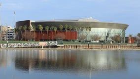 Timelapse da arena de Stockton em Stockton, Califórnia 4K filme