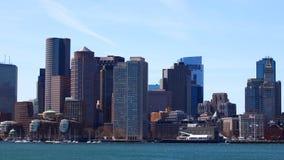 Timelapse da Boston, Massachusetts do centro através do porto 4K video estoque