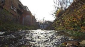Timelapse da cachoeira de Aleksupites em Kuldiga Letónia video estoque