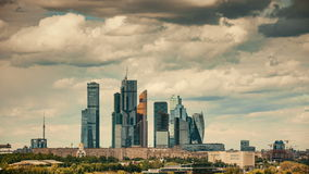Timelapse da cidade de Moscou vídeos de arquivo