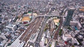 Timelapse da ideia aérea do tráfego em Osaka, Japão video estoque