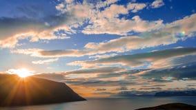 Timelapse da montanha de Islândia vídeos de arquivo