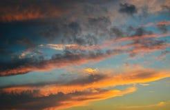 Timelapse da noite com por do sol e nuvens Foto de Stock Royalty Free
