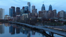 timelapse da noite de 4K UltraHd em Philadelphfia, Pensilvânia