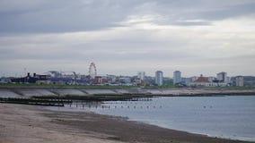 Timelapse da praia Escócia de Aberdeen filme