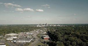 Timelapse da skyline de Greensboro vídeos de arquivo