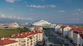 Timelapse da vila olímpica Complexo da moradia filme