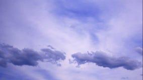Timelapse das nuvens vídeos de arquivo