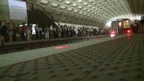 Timelapse dc metro station stock footage